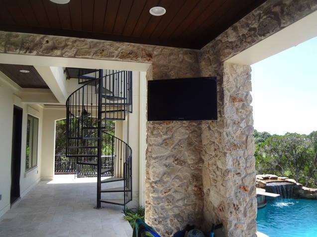 pool audio setup houston home