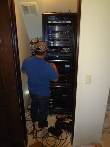 Finishing the home automation system in houston home