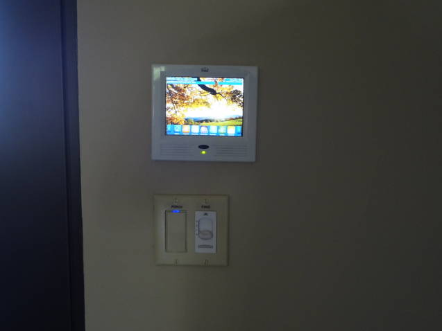 houston smart home control in wall