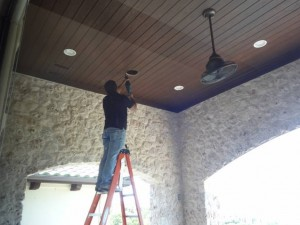 Installing outdoor patio speakers