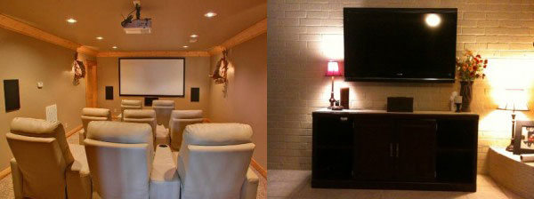 houston home theater room - design and installation
